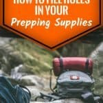 How To Fill Holes In Your Prepping Supplies
