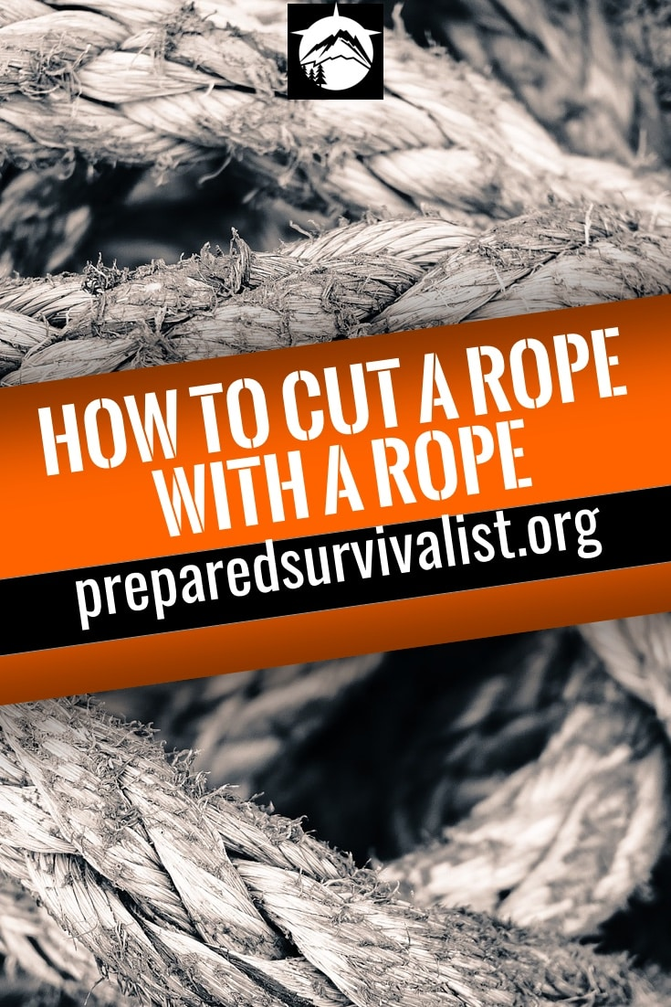 how to cut a rope with a rope