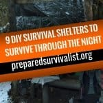 9 DIY Survival Shelters To Survive Through The Night