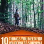 10 Things You Need for Wilderness Survival