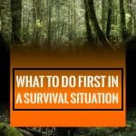 what to do first in a survival situation